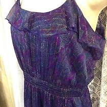 Women's  Express Maxi Spaghetti  Strap Paisley Print Beautiful Dress Size Medium Photo