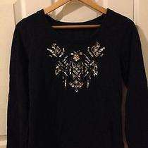Women's Express Mix Sequin Sweatshirt Size Small Photo