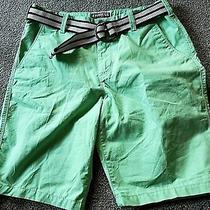 Women's Express New Green Classic Fit W/ Belt Bermuda Style Shorts Size 30 Photo