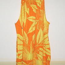 Women's Express Orange/yellow Sleeveless Dress Size S Nwt Photo