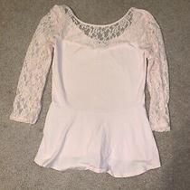 Women's Express Pink Lace Top Size S Photo