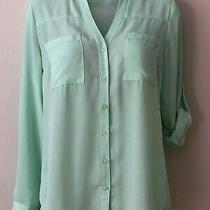 Women's Express Portofino Shirt - Size Xs - Mint Green Photo