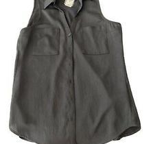 Women's Express Portofino Slim Black Sleeveless Blouse Top Size Xs Photo