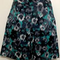 Women's Express Printed Skirt With Pockets Size 6 a Line Photo