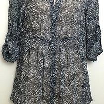 Women's Express Printed Tunic Blouse Size Small Floral Print Photo