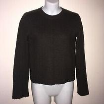 Women's Express Pullover Chunky-Knit Brown Long Sleeve Sweater Top Size M  Photo