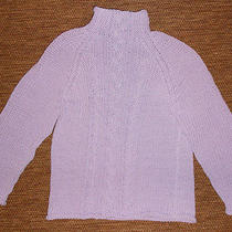 Women's Express Purple Cable Knit Sweater Photo