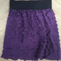 Women's Express Purple Ruffle Skirt Size Xs Photo