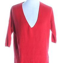Women's Express Red 100% Cotton Solid Cardigan Size Xs Photo