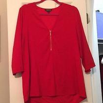 Women's Express Red Dress Shirt Size Extra-Large Photo