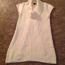 Women's Express Short Sleeve Sweater Dress/tunic Size Small in Cream Photo