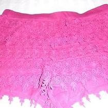 Women's Express Shorts Crochet Overlay Size Large Dark Berry Photo