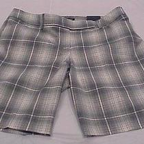 Women's Express Shorts Sexy Grey Plaid 45 Price Tag Size 8 New With Tags Photo