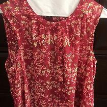 Women's Express Sleeveless Button Down Floral Top Size Med. Nwt Photo
