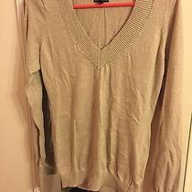 Women's Express Sparkly Knit v-Neck Sweater Photo