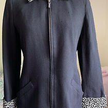 Womens Express Tailleur Jacket P5/6 Black & Leopard Lined Photo