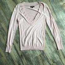 Women's Express v-Neck Sweater Pink Size L Photo