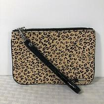 Womens Express Wallet Wristlet Animal Print Zip Closure Black & Brown Photo