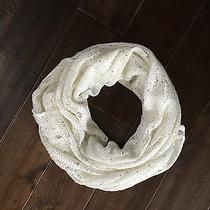 Women's Express White Knit and Sequins Infinity Scarf Photo