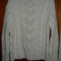 Women's Express World Brand Ivory Sweater Size L Photo