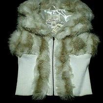 Women's Faux Fur Vest-Size  M-Arden B -Multicolored-Nwt Photo