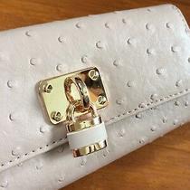 Women's Faux Leather Clutch wallet/purse.padlock detail.blush Pink. Photo