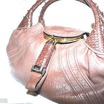 Women's Fendi Spy Bag 100% Auth. Brown Zucca Handbag Hobo 2000 Leather Photo