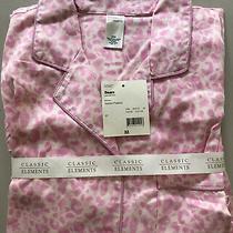 Women's Flannel Pajama Set. Sears/classic Elements. Size M Pink Animal Print Photo