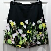 Women's Flare Skirt Victoria Beckham for Target Floral Print Size Small Photo
