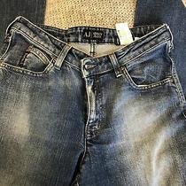 Women's Flared Dark Blue Indigo 006 Armani Jeans Size 30 Photo