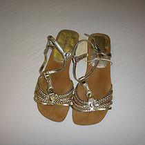 Women's Flat Gold Sandals Photo