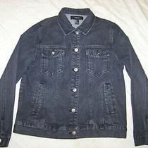 Women's Forever 21 Black Denim Jean Jacket - Size S Photo