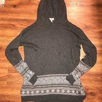 Women's Forever 21 Contemporary Gray Pull Over Hoodie Size Small Aztec Photo