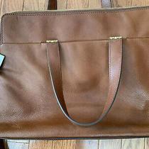 Womens Fossil Bridgett Leather Laptop Case Nwt Photo