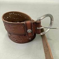 Womens Fossil Brown Leather Belt Size M Photo
