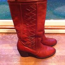 Women's Fossil Felicia Boots Rust Size 9.5 Photo