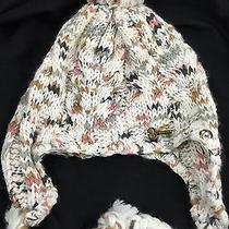 Women's Fossil Key Multi Color Crochet Acrylic Tassel Chin Tie Beanie Cap Hat Vg Photo