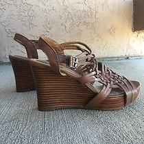 Women's Fossil Wedges Cognac Brown Size 7 Photo