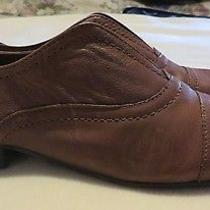 Women's Franco Sarto Brown Leather Slip on Flats Loafers - Size 6 N Photo