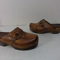 Women's Frye 70826 Clara O Ring Clog Leather Antique Brown Size 5.5 M Photo