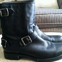 Women's Frye 76603 Veronica Back Zip Short Leather Riding Boots Black Sz 8.5 B Photo