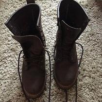 Women's Frye Boots Logger 8g Dark Brown Size 6.5 Like New Photo