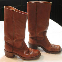 Women's Frye College Leather Boots Size 8 B Photo