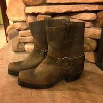 Women's Frye Harness Short Boot. Brown Leather Size 7.5 Photo