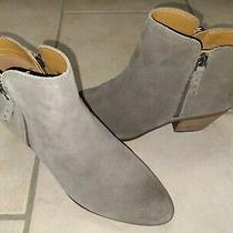 Women's Frye Judith Zip Ankle Bootie Leather Suede Taupe 3471735 Size 8.5m New Photo