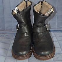 Women's Frye Leather Insulated With Fur Winter Boots Size 8b Photo