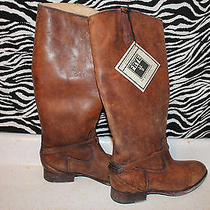 Women's Frye Lindsay Plate Cognac Boot Size 9m Nib With Tags Photo