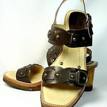 Women's Frye Wedge Sandals Brown Leather Size 7 M Photo
