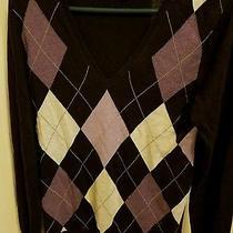 Women's Gap Argyle Sweater v-Neck Purple M Photo