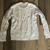 Womens Gap Cable Knitwear Jumper Size S Ivory Wool Blend Photo